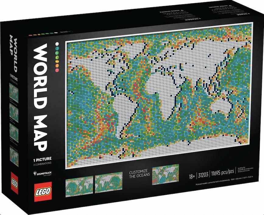 LEGO set 31203 World Map