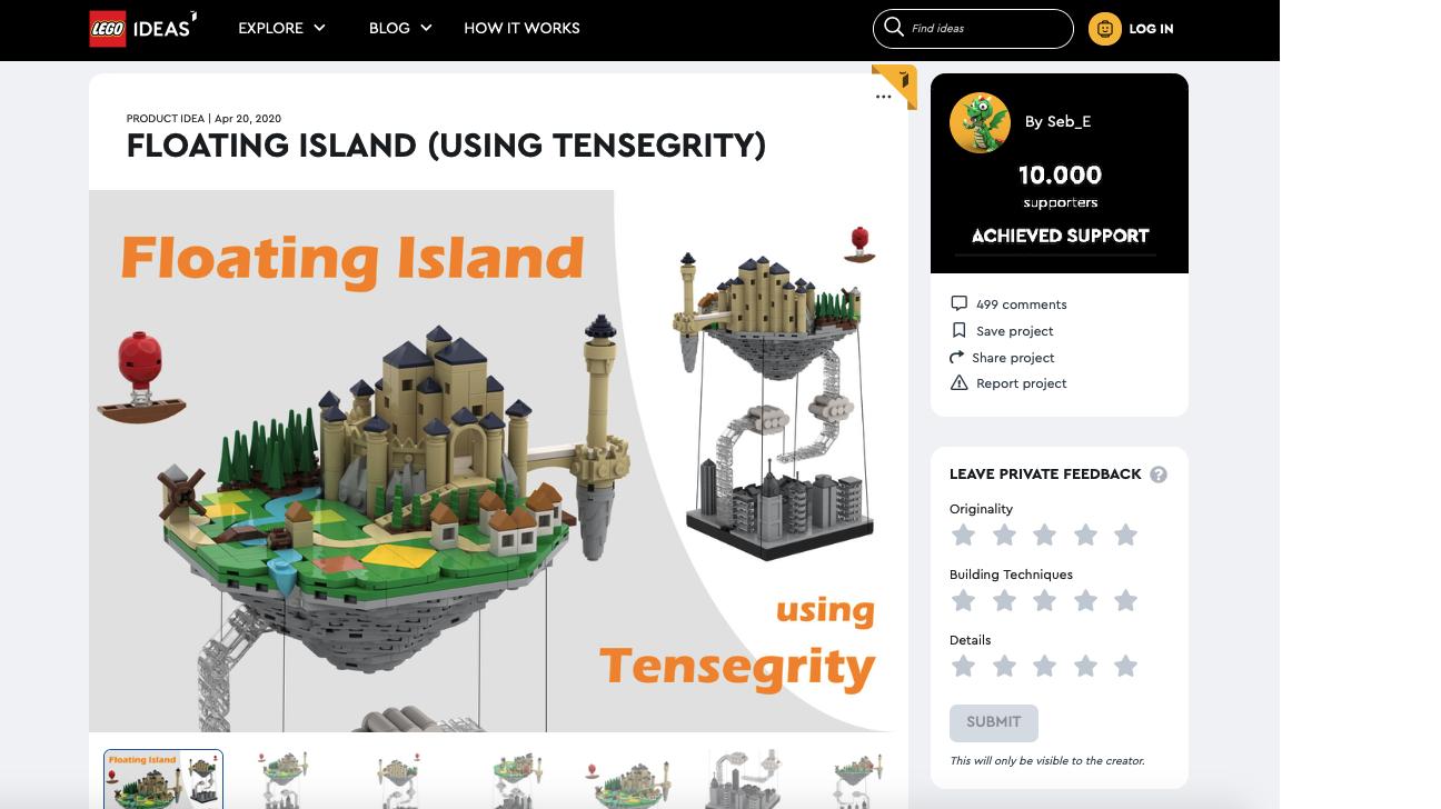 Floating Island raggiunge i 10.000 like su LEGO® Ideas