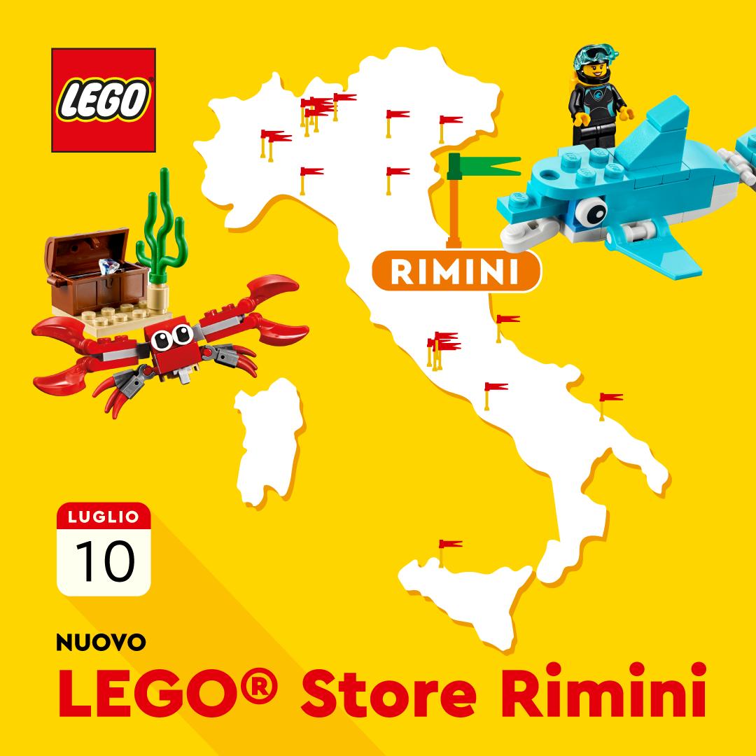Aprirà il 10 luglio a Rimini il nuovo LEGO Store