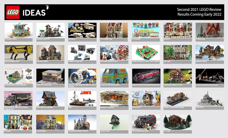 Sono 34 i progetti LEGO® Ideas qualificati per il secondo round di review del 2021