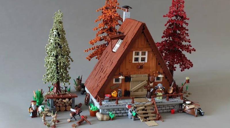 A-frame Cabin, il progetto di Norton74 in review su Lego Ideas